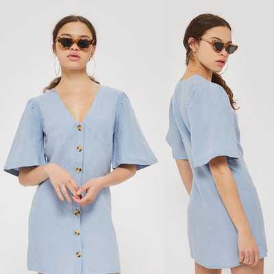 High Quality Wholesale Breathable Soft Loose Casual Shirt Dress Cotton supplier