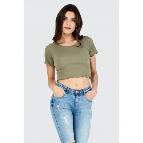100% Cotton Short Crop Top for Women