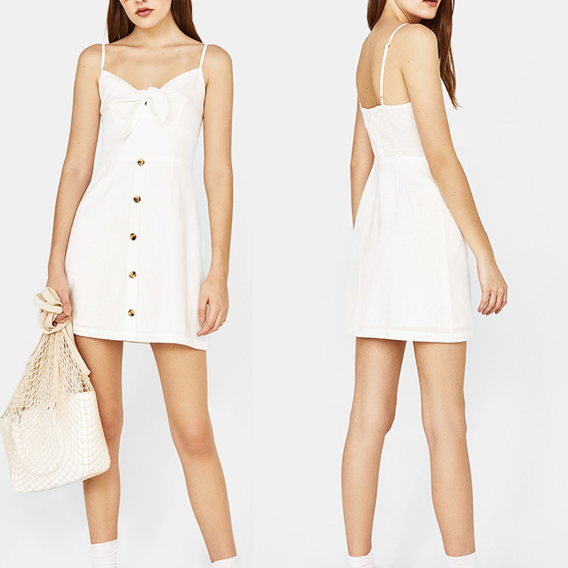 Ladies fashion simple smart sexy casual dress supplier