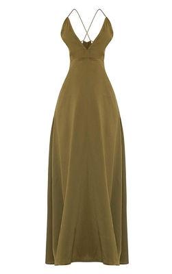 New arrival khaki sexy women chic party dress